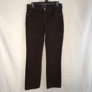 NYDJ 6P Jeans Brown Straight Leg Stretch 563